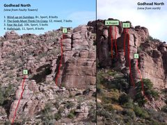 Rock Climbing Photo: Godhead North climbs