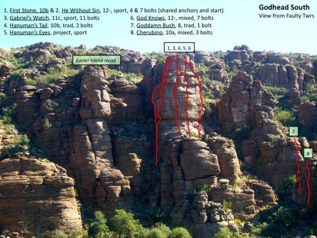 Rock Climbing Photo: Godhead South climbs