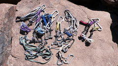 Rock Climbing Photo: Protection used in the FA.