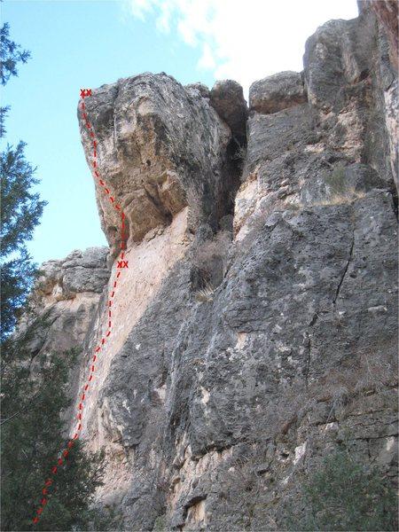 Rock Climbing Photo: The Magus topo.