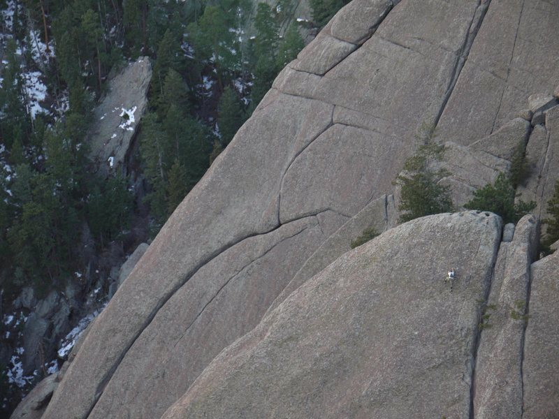 Rock Climbing Photo: Unknown soloist on the East Ironing Board.  Novemb...