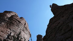 Rock Climbing Photo: AMH with anchors established. Projects visible to ...