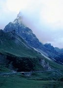 Rock Climbing Photo: Cimone della Pala from Rolle Pass, first Fall snow...