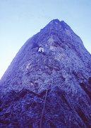 Rock Climbing Photo: On the middle buttress, Scarf Arete 1963. Giacomo ...