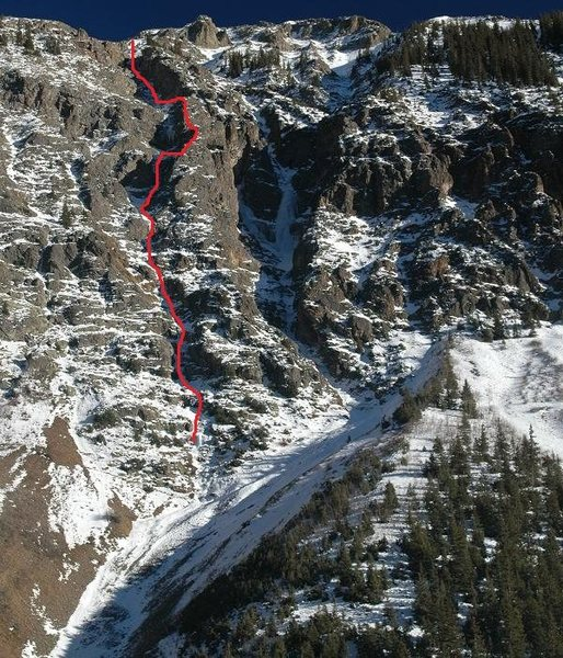 A Julian Smith photo with the route drawn in.