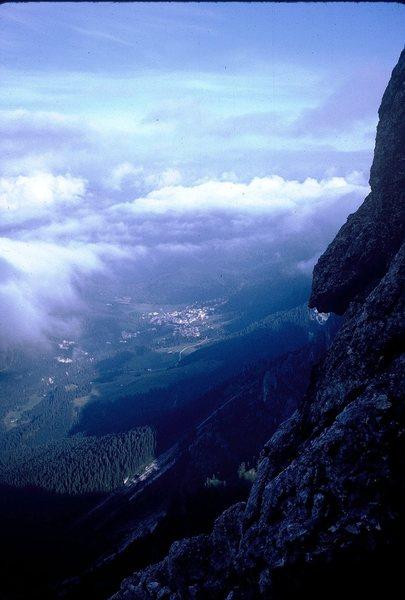 Rock Climbing Photo: San Martino di Castrozza; from Scarf Arete.
