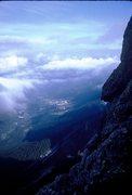 Rock Climbing Photo: San Martino di Castrozza; from Scarf Arete.
