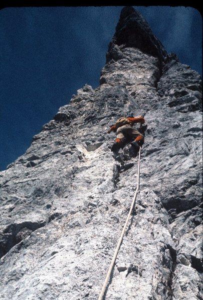 """Rock Climbing Photo: Maurizio """"Toto"""" de Zanna, leading """"..."""
