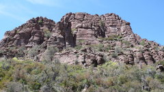 Rock Climbing Photo: Faulty Towers Area from the road (not showing the ...