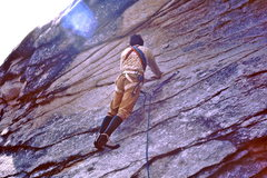 Rock Climbing Photo: Starting the first pitch off the ground.  Dressed ...