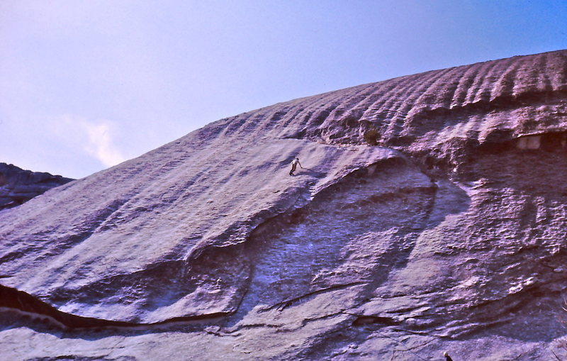 Rock Climbing Photo: View of the 2nd and 3rd pitch.    Standing below t...