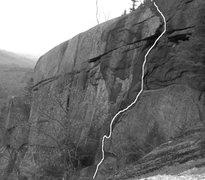 Rock Climbing Photo: The Dark Side 5.8+