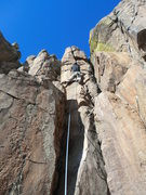 Rock Climbing Photo: I think the route is harder than 5.7 if you do not...