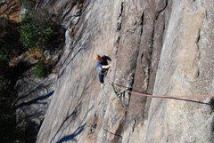 Rock Climbing Photo: BP. above the crux on 1st pt Bat's Ass.