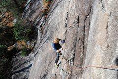 Rock Climbing Photo: BP. on easy ground near 1st belay.