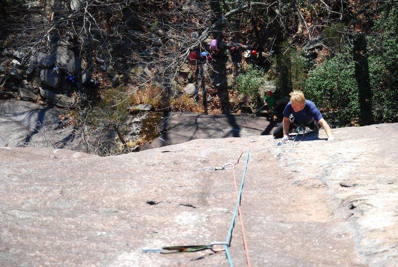 Rock Climbing Photo: Following pitch 2 on a nice fall day!