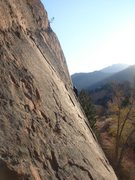 Rock Climbing Photo: A beautiful winter's day on Ripple Wall; Ross on S...