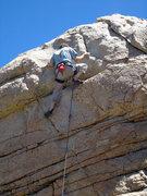 Rock Climbing Photo: Chris O nears the top.