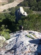 Rock Climbing Photo: Top side. With pack....