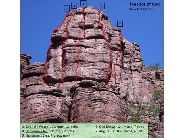 The Face of God climbs