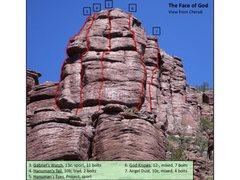 Rock Climbing Photo: The Face of God climbs
