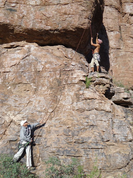 Rock Climbing Photo: So, how does this sequence go again?!