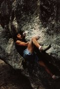 Rock Climbing Photo: The North Mantle back in the early 90's