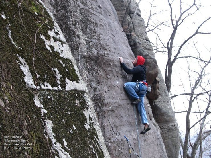 Rock Climbing Photo: Burt at the bolt (he also had side gear).