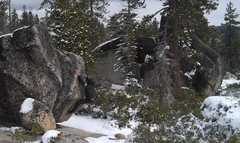 Rock Climbing Photo: Rat Cave Boulders after an early season snow storm...