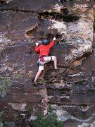 "Rock Climbing Photo: Mateo cleanin' up ""Go Ahead, Ok?"""
