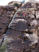 Rock Climbing Photo: Go Ahead, Ok?    Between Go Ahead and Jump and Ok ...