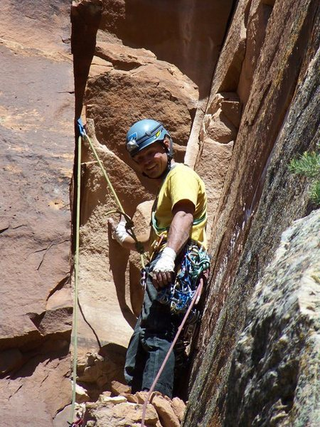Rock Climbing Photo: pissing boy pillar first ascent colorado national ...