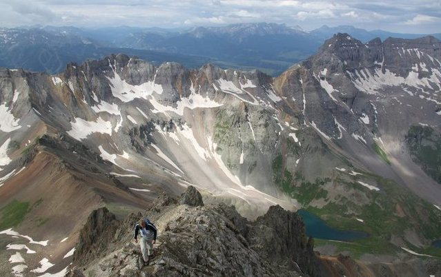 Rock Climbing Photo: mt. sneffles s.w ridge san juan range colorado