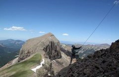 Rock Climbing Photo: mt. coxcomb san juan 13er north face direct 5.8