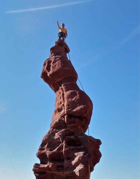 ancient art via stolen chimney<br> fisher towers utah