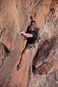Rock Climbing Photo: dry creek, unnamed 5.11d montrose colorado