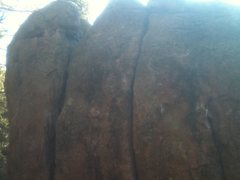 Rock Climbing Photo: Sorry for the bad quality. Start on the chalked up...