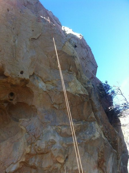 Rock Climbing Photo: Top rope hanging over Omega Glory