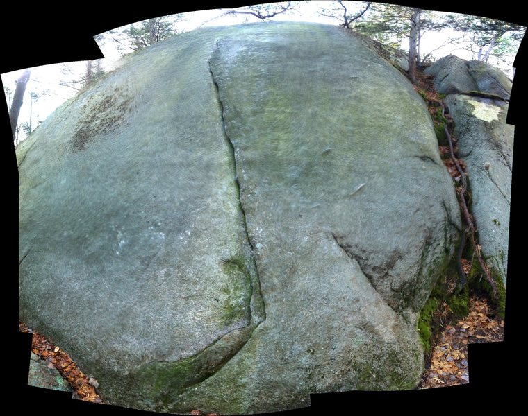 Rock Climbing Photo: The right side of the cliff. Rip Van Winkle ascend...