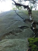 "Rock Climbing Photo: ""Toe Jams"" heads up the obvious wide cra..."