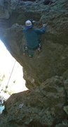 Rock Climbing Photo: after this roof it's smooth sailing