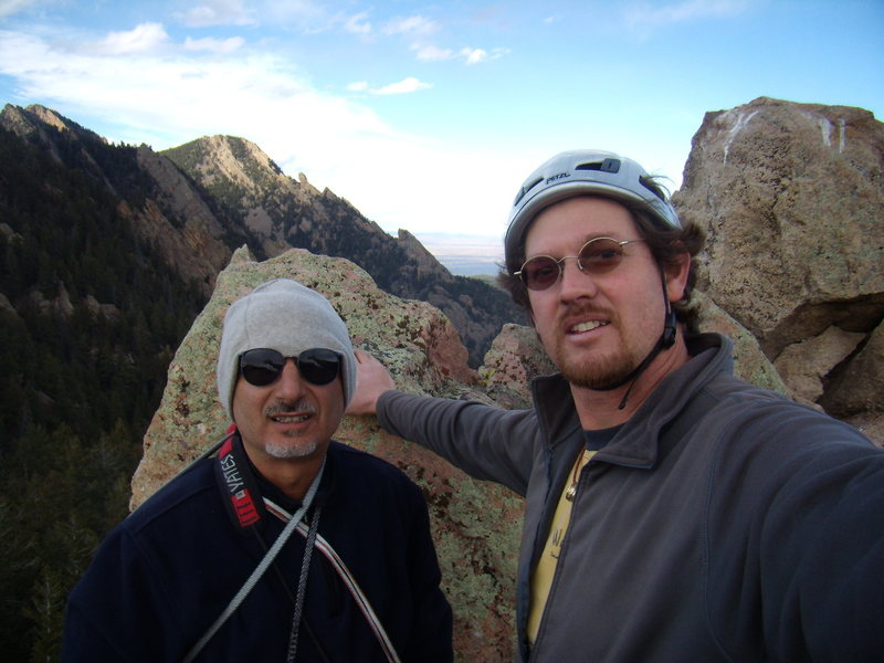 Mike and I on the summit of Shirt Tail Peak after climbing Gambit.  Thanksgiving break 2011.