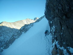 Rock Climbing Photo: All Mixed Up - RMNP on 11/26/2011.  With the wind ...