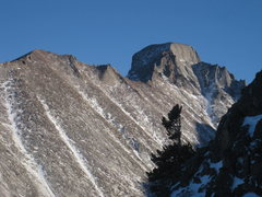 Rock Climbing Photo: Great shot of Longs Peak from All Mixed Up.  11/26...