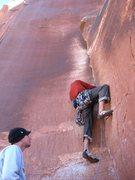 Rock Climbing Photo: scott headed up the bouldery start of SUPACRACK!