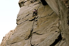 Rock Climbing Photo: The first time I did this route I misread the draw...