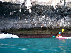 Rock Climbing Photo: Deep water soloing