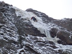 """Rock Climbing Photo: Nearing the top of """"Dead Men Chipping"""". ..."""
