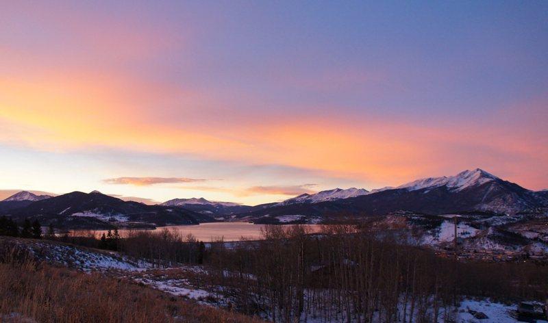 Rock Climbing Photo: Sunrise, Tenmile Range, Lake Dillon.