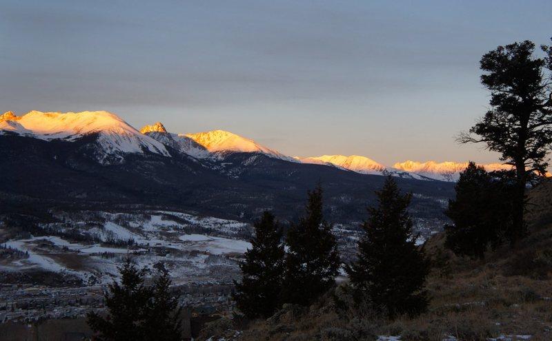 Sunrise, Gore Range.